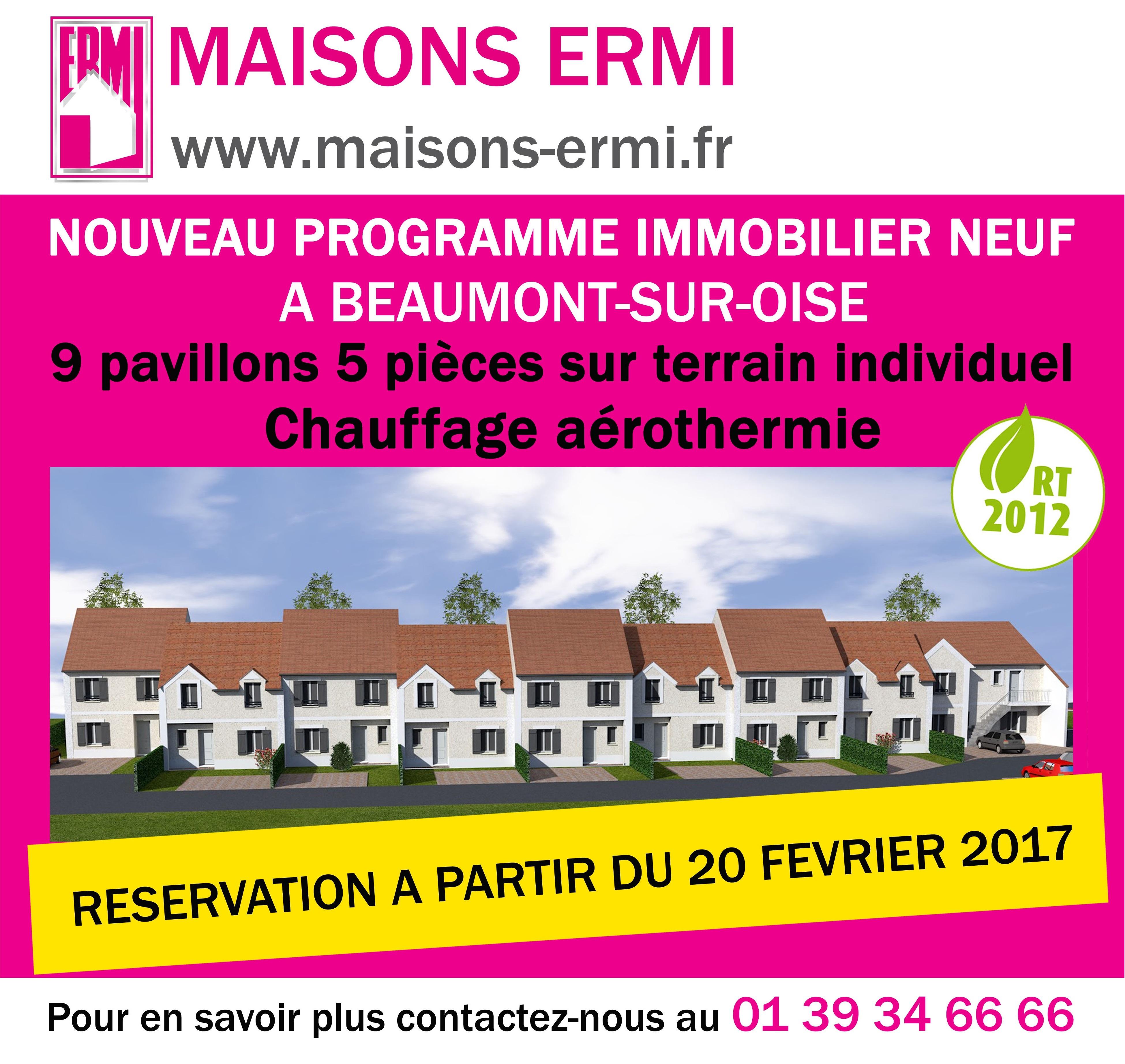 Maisons ermi nouveau programme immobilier neuf for Programme immobilier neuf maison